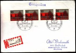 Germany 1964 R Labels Registered Letter Einschreibebrief Recommande Hannover 1 - [7] Federal Republic