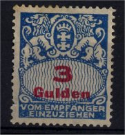 Deutschland - Danzig - Porto - 1927 - Mi 39* - Dantzig