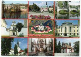 CZECH REPUBLIC - ZDAR NAD SAZAVOU VIEWS / THEMATIC STAMP - OLD CARS - Tschechische Republik