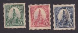El Salvador, Scott #283-284, 286, Used, Morazan Monument, Issued 1903 - El Salvador