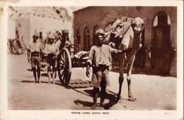 "04995 ""YEMEN - ADEN - NATIVE CAMEL CARTS "" CART. POST. ORIG. ANIMATA. NON SPEDITA. - Yemen"