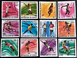 GUINEA  GUINEE  Juegos Olimpicos  Montreal 1976   560/71  Non Dentele  Sin Dentar     ** New --- - Verano 1976: Montréal