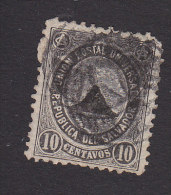 El Salvador, Scott #16, Used, Coat Of Arms, Issued 1879 - El Salvador