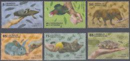 2013.128 CUBA 2013 MNH . ANIMALES DOMESTICOS , DOG , CAT , RABIT , TURTLE , HORSE ,PARROT & PIGEON . - Cuba