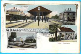 GRUSS AUS PRAGERHOF - PRAGERSKO Near Slovenska Bistrica ( Slovenia ) * LITHO * Travelled 1906. * RAILWAY CANCELATION - Slovenia