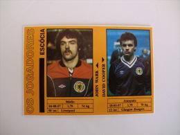 Football Futebol World Cup México 86 Scotland John Wark And David Cooper Portugal Portuguese Pocket Calendar 1986 - Calendriers