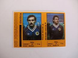 Football Futebol World Cup México 86 Scotland Willie Miller And Richard Gough Portugal Portuguese Pocket Calendar 1986 - Calendriers