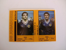 Football Futebol World Cup México 86 Scotland Paul McStay And Jim Bett Portugal Portuguese Pocket Calendar 1986 - Calendriers