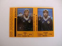 Football Futebol World Cup México 86 Scotland Maurice Johnston  Steve Archibald Portugal Portuguese Pocket Calendar 1986 - Calendriers