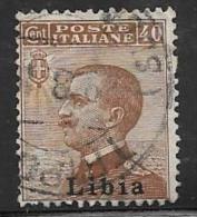 Libya, Scott # 9 Used Italy Stamp Overprinted, 1912 - Libya