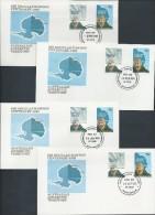 Australian Antarctic Territory 1982 Mawson 4 Base FDC Set Official Unaddressed - Australian Antarctic Territory (AAT)
