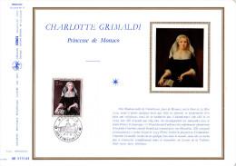 """DAP 1° Jour N° 77 En Soie (2200 Ex)  """" CHARLOTTE GRIMALDI """" Avec Le N° YT 946. Parfait état ! - FDC"""