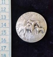 Medaille Bronze Argenté Société Canine De Savoie, Aix Les Bains - France