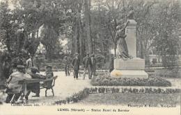 Lunel (Hérault) - Statue Henri De Bornier - Phototypie A. Bardou - Edition Combes - Lunel