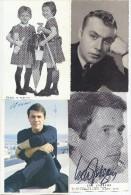 Quatre Photos De Chanteurs - Autogramme