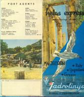 "EX.YU.Croatia.Jadrolinija. ""Hellas-Express"" Cruising Line 21: Venice-Dubrovnik-Peraeus On M/S ""Jadran"" - Tourism Brochures"