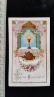 Chromo Illustré Souvenir , 1 Ere Communion Calice Bouasse , 1905 - Images Religieuses