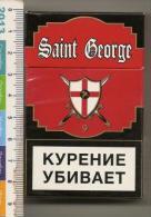 An Empty Box Of Cigarettes From Saint  George - Moscow - 2013 - Contenitori Di Tabacco (vuoti)