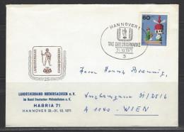 BUND Beleg Sonderstempel Tag Der Briefmarke 31.10.1971 Hannover - Tag Der Briefmarke