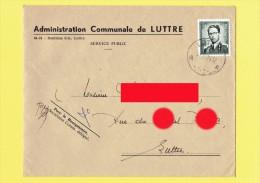 Enveloppe Adinistration Communale De LUTTRE -  Imprimeur: S..A. DANTINNE Luttre          (4097) - Pont-à-Celles