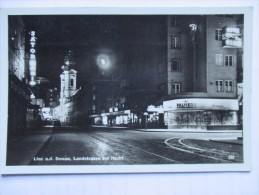 1937 LINZ Doanu Landstrasse Bei Nacht Pubblicità PALMERS Splendida Affrancatura Timbro Arrivo - Linz