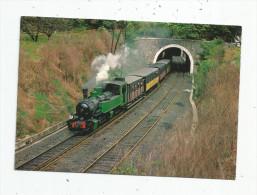 Cp , Chemin De Fer Du Vivarais , Ligne Tournon - Lamastre , Le Train à La Sortie Du Tunnel , Ed : C.F.T.M. , Vierge - Treni