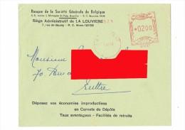 Enveloppe De La SOCIETE GENERALE De BELGIQUE - Siège De LA LOUVIERE - 1954 -   (4099) - Bank En Verzekering