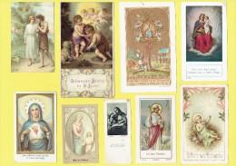Lot De 9 Images Religieuses - Enfant Jésus - Marie - Sainte Vierge - Notre Dame De Walcourt ,,,        (4100) - Devotieprenten
