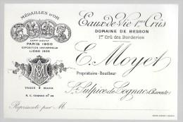 16-627 - CHARENTE - SAINT SULPICE DE COGNAC - Eaux De Vie - E Moyet - CARTE DE VISITE - Cartes De Visite