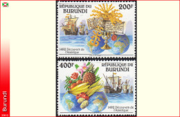 Burundi 1010/11**   Decouverte De L´Amerique MNH