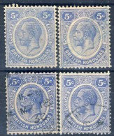 #B1109. British Honduras 1922. 4 Items. Michel 94. Used - British Honduras (...-1970)