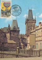 D22401 CARTE MAXIMUM CARD 1968 CZECHOSLOVAKIA - BRIDGE TOWERS PRAHA CP ORIGINAL - Architecture