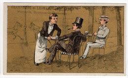 Chromo Mercerie, Bonneterie, Chemises, Champillou & Leoman, Orléans : Au Café ( Bistrot, Serveur, Guéridon ) - Autres
