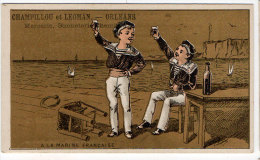 Chromo Mercerie, Bonneterie, Chemises, Champillou & Leoman, Orléans : Enfant, Marins, Marine Française - Andere