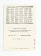 Calendrier , Petit Format , 1974 ,  Chemin De Fer , Train , A.J.E.C.T.A. , LONGUEVILLE , 2 Scans - Calendriers