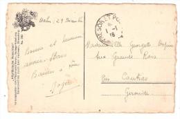 Carte De DAHN, Bavière / Bayern FM Cachet TRESOR ET POSTES 1er Janvier 1918 > Coutras Gironde, TB - Marcofilia (sobres)