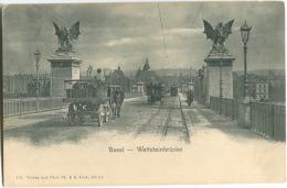 Basel Wettsteinbrüche Schöne Stimmung E. Link Mit Pferdekutschen Um 1900 - BS Basel-Stadt
