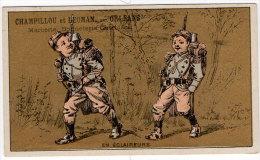 Chromo Mercerie, Bonneterie, Chemises, Champillou & Leoman, Orléans : En éclaireurs ( Soldats En Tenue ) - Autres