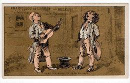 Chromo Mercerie, Bonneterie, Chemises, Champillou & Leoman, Orléans : Chanson, Chanteurs, Guitare - Autres