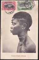 CPA - (Congo) Congo Belge - Femme Sangho (Ubangi) (oblitérée Matadi 1909) - Congo Belga - Otros