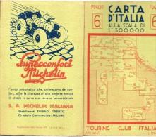 Ravenna Riccione Pesaro Ancona Ps.giorgio Carta Geografica Michelin (vedi Retro) - Carte Geografiche