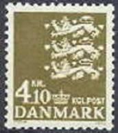 DENEMARKEN 1970 4.10kr Rijkswapen Brons PF-MNH-NEUF - Ongebruikt