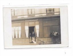 Carte Photo à Localiser : Restaurant RONDE, Cheval à La Porte, - Cartes Postales