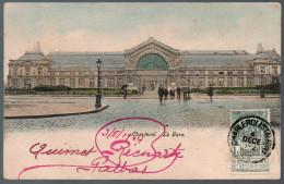 1664 - Ohne Porto - Alte Ansichtskarte - Charleroi -  La Gare - Bahnhof Station Gel 1904 - Charleroi
