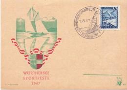 OSTERREICH KLANGENFURT  WORTHERSEE SPORTFESTE    (M160112) - Vela