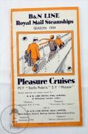 B&N Line Royal Mail Steamships - Pleasure Cruises M/Y Stella Polaris - S/Y Meteor - Season 1934 - Otros