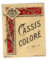 SPECIMEN D´étiquette , CASSIS COLORE , HABERER , PLOUVIEZ & DOUIN , Paris , 2 Scans - Etiquettes
