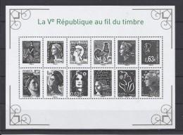 FRANCE - 2013 - FEUILLE NEUVE** SANS CHARNIERE N°YT F 4781 - LA V EME REPUBLIQUE AU FIL DU TIMBRE - Nuovi