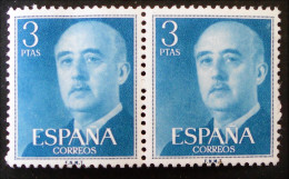 GENERAL FRANCISCO FRANCO 1955/58 - PAIRE NEUVE - YT 866 - 1931-Hoy: 2ª República - ... Juan Carlos I