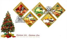 NEW ZEALAND FDC CHRISTMAS WOMAN CHILD SET OF 5 STAMPS DATED 04-10-2004 CTO SG? READ DESCRIPTION !! - Nouvelle-Zélande